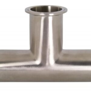 Clamp Tee, 1/2 in Tube OD Sanitary Fitting